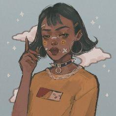 She said yum We stan a queen For girldrawing girl drawing sketchy digital art digitalart illustration sketch # Pretty Art, Cute Art, Arte Dope, Illustration Art, Illustrations, Black Girl Art, Wow Art, Digital Art Girl, Magic Art