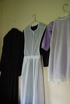 Amish church dress and apron