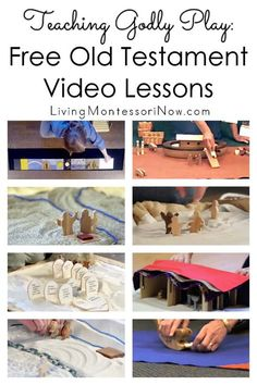 Free YouTube video lessons to help teach Godly Play Old Testament stories; videos for many core and extension Godly Play presentations - Living Montessori Now