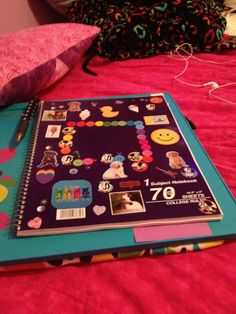 An old note book or a new on can be made special with some stickers for school or an artist