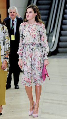 22 September 2017   Queen Letizia as the Honourary President of the Spanish Association Against Cancer (AECC), presided over the delivery of the AECC Grants for Cancer Research as part of World Cancer Day at the Prado Museum in Madrid.