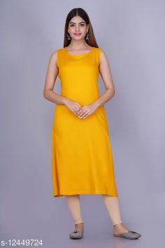 Kurtis & Kurtas Alisha Attractive Kurtis Fabric: Rayon Sleeve Length: Sleeveless Pattern: Solid Combo of: Single Sizes: S (Bust Size: 36 in, Size Length: 46 in)  XL (Bust Size: 42 in, Size Length: 46 in)  L (Bust Size: 40 in, Size Length: 46 in)  M (Bust Size: 38 in, Size Length: 46 in)  XXL (Bust Size: 44 in, Size Length: 46 in)  Country of Origin: India Sizes Available: S, M, L, XL, XXL   Catalog Rating: ★4.1 (497)  Catalog Name: Myra Sensational Kurtis CatalogID_2398784 C74-SC1001 Code: 213-12449724-537