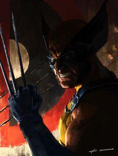 Wolverine: Enough talk let's fight!, KD Stanton on ArtStation at https://www.artstation.com/artwork/XbbZn