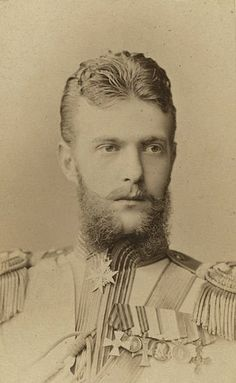 Grande Duke Sergei Alexandrovich of Russia.  Younger son of Tsar Alexander II, brother to Tsar Alexander III, uncle to Tsar NIcholas II. Sergei was also brother-in-law to Nicholas as they both married sisters; Elisabeth (Ella) was his wife and Alix married to Nicholas was the Tsaritsa of Russia. Both girls princesses of Hesse, Germany.