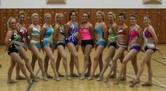 Beautiful examples of how different twirling costumes can be!