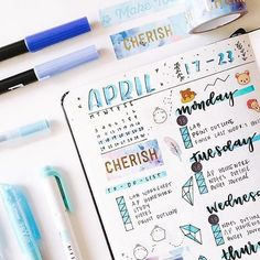 """549 Likes, 12 Comments - Hi, I'm Gigi! (@the.bullet.journey) on Instagram: """"Trying a new layout for my weekly spread inspired by @craftyenginerd I'm not too sure if that's…"""""""
