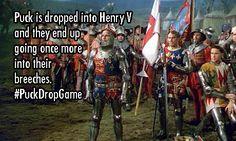 Puck invades Henry V. #PuckDropGame