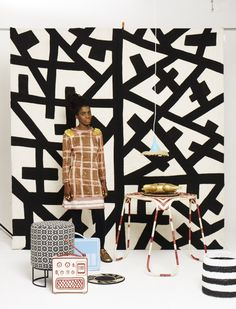 Print Culture --- Elle Decor South Africa | Issue 97, Afro-Chic decor in a celebration of Graphic Africa.