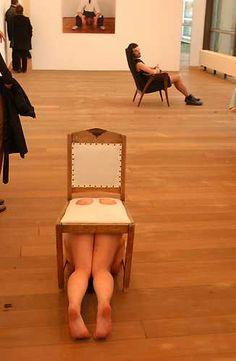 Yael Davids, White Chair (1996).© Marco Sweering, Museum De Paviljoens
