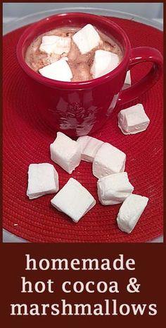 Perfect Holiday Treat - homemade hot cocoa mix and homemade marshmallows