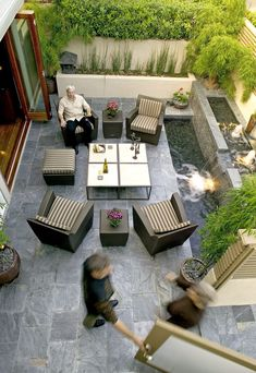 courtyard garden 64 Ideas For Backyard Entertaining Area Courtyards Small Backyard Gardens, Backyard Patio Designs, Modern Backyard, Small Backyard Landscaping, Patio Ideas, Paved Backyard Ideas, Backyard Kitchen, Small Patio, Landscaping Ideas