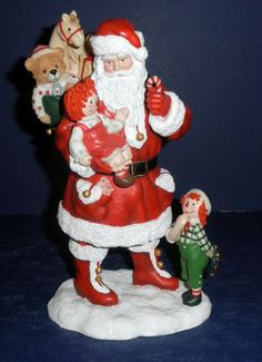 Pipka Raggedy Ann & Andy Santa-  #10099- New in Box- Limited Edition