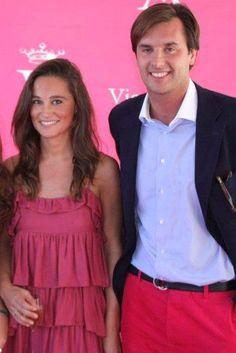 Pippa Middleton wearing Sandro Silk Dress