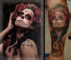Day of the Dead Cosplay by Meagan Marie; Tattoo by Dmitriy Samohin