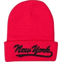 Pink New York beanie hat - hats - accessories - women