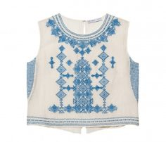 Chelsea Flower Embroidered Crop Top | Coachella Style Festival Fashion http://otteny.com/catalog/embroidered-crop-top.html