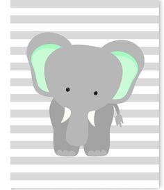 Elephant Nursery Art Gray and Mint Elephant Print Mint Nursery Elephant with Balloons Gender Neutral Nursery Decor Baby Girl Baby Boy Mint Nursery, Baby Girl Nursery Decor, Boho Nursery, Nursery Neutral, Baby Boy Nurseries, Boy Decor, Baby Room, Nursery Ideas, Nursery Grey