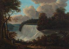 """View of Niagara Falls,"" Victor de Grailly, oil, Lyman Allyn Art Museum. Natural Wonders, American Artists, Continents, Niagara Falls, Art Museum, Waterfall, Oil, Nature, Travel"