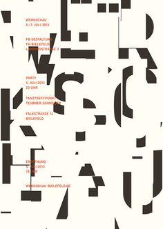 Showcase 2013 Bielefeld University of Applied Sciences Department of Design | Slanted - Typo Weblog and Magazine