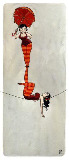 cool circus illustration