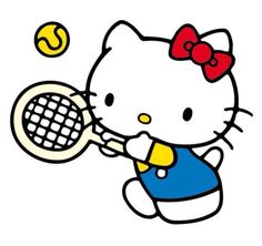 Hello Kitty wants to play tennis but there is no one to play with! Not even her sister, Mommy because Mimmy has gone for cooking classes. I wish I could go to Hello Kitty and play with her (even though I am very bad at tennis). Like if you want Mimmy to play with her and Repin if you want to play with Hello Kitty.