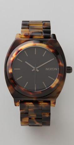 5b23a2c6419 Nixon Time Teller Acetate Watch Tortoise Shell Watch