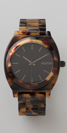 Nixon tortoise shell watch