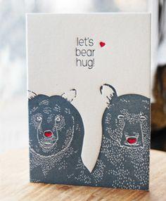 "Studio Olivine ""Let's Bear Hug"" valentines card :)"