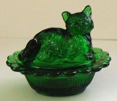 Mosser Glass Cat Salt Dish