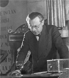 "kvetchlandia: "" Gerda taro Tristan Tzara at the International Congress of Anti-Fascists Intellectuals, Spain 1937 """