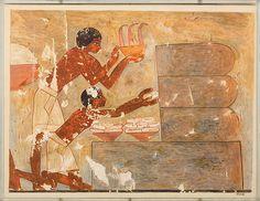 Early 20th century reproduction of beekeeping scene from tomb of Rekhmire, c. 1479-1425 BCE, via Metropolitan Museum of Art