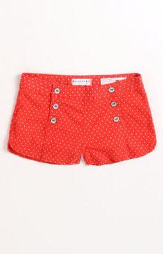 High Waist Sailor Shorts