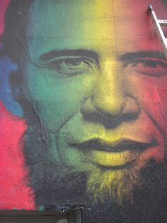 """""""Lincoln Obama"""", Street Art by Ron English."""