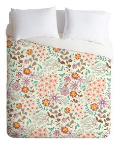 Pimlada Phuapradit Tiny Floral Pastel Duvet Cover by DENY Designs #zulily #zulilyfinds