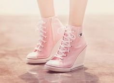 26 Nice Fashion High Heels Trending Now - Shoes Fashion & La.- 26 Nice Fashion High Heels Trending Now – Shoes Fashion & Latest Trends Brilliant Shoes Trends - Converse Rose, Converse Wedges, Converse Wedding Shoes, Converse High Heels, Cute Converse, Wedding Heels, Cute Shoes, Me Too Shoes, Shoe Boots