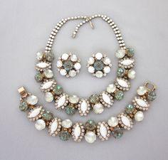 RARE Vintage HOBE Saphiret Necklace Set Saphiret by jryendesigns