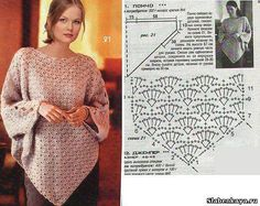 crochet lace poncho and cape