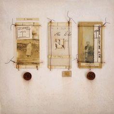 ⌼ Artistic Assemblages ⌼ Mixed Media & Collage Art - D. Canvas Wall Collage, Art Du Collage, Collage Art Mixed Media, Wall Art, Canvas Canvas, Collages, Tea Bag Art, Kunst Online, Creation Art