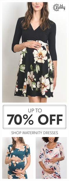 Sign up to shop maternity dresses, up to 70% off. These floral maternity dresses feature a timeless appeal and comfort to see you through your pregnancy and into nursing.