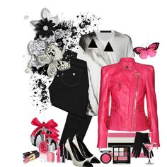 """black and pink"" by ntina36 on Polyvore"