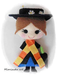 Broche Mary Poppins, pin Mary Poppins, Mary Poppins broch