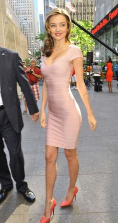 Fashionably Fly: Miranda Kerr in Hervé Léger