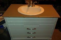 Bathroom Vanity DIY-From Trash To Treasure #pinterest #DIY