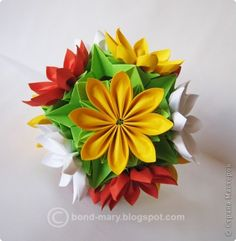 Master class Kusudama: Blossoming Electra (scheme + MC) Paper.  Photo 1
