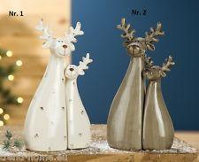 Rentier 2 er Set Keramik Gilde 23 cm hoch Weihnachten Dekofigur