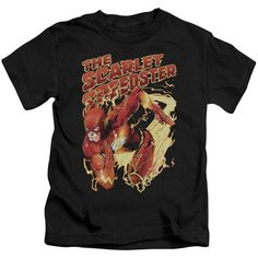 JLA/Scarlet Speedster Short Sleeve Juvenile T-Shirt in
