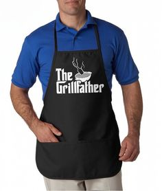 The Grillfather Apron Funny Movie Parody Summer Cookout Aprons One Size Fits All