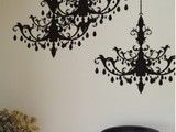 Rhinestone Chandelier Vinyl Wall Decal - eclectic - decals - - by World Market