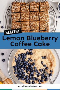 You deserve a little something sweet, and this Healthy Lemon Blueberry Coffee Cake is the perfect option! Made with coconut sugar, lemon zest, and blueberries, it's a naturally sweet treat perfect for breakfast or dessert! Healthy Breakfast Dishes, Best Breakfast Recipes, Breakfast Cake, Healthy Cake, Healthy Dessert Recipes, Healthy Gingerbread Cookies, Real Food Recipes, Cake Recipes, Coconut Sugar