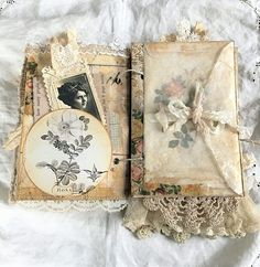 Risultati immagini per paper flowers junk journal Junk Journal, Journal Paper, Handmade Journals, Handmade Books, Handmade Rugs, Handmade Crafts, Altered Books, Fabric Journals, Scrapbook